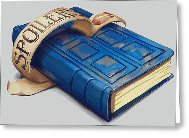 Spoiler Greeting Cards - Spoilers- River Songs Tardis Journal Greeting Card by Dorianne Dutrieux