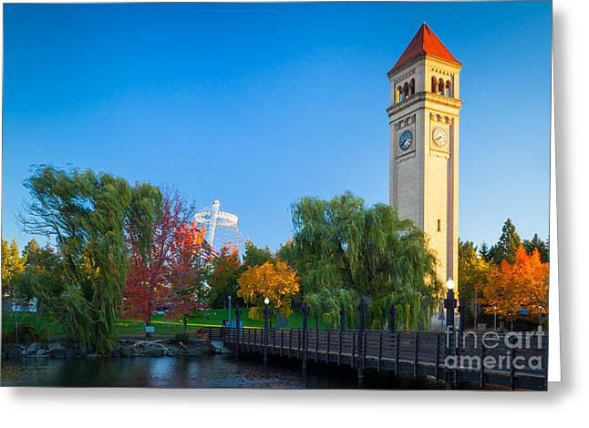 Spokane Greeting Cards - Spokane fall colors Greeting Card by Inge Johnsson