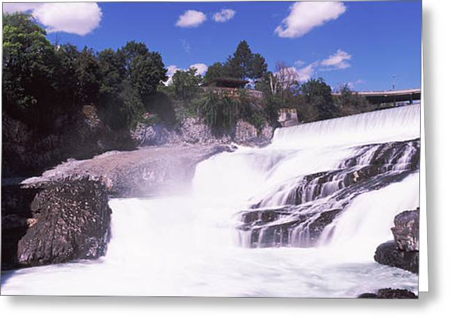 Spokane Falls At Spokane River Greeting Card by Panoramic Images