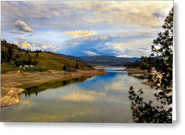 Recently Sold -  - Haybale Greeting Cards - Spokane River Greeting Card by Robert Bales