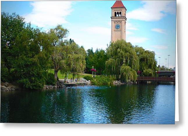 Spokane Riverfront Park Greeting Card by Carol Groenen