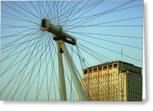Londoneye Greeting Cards - Spokes.. Greeting Card by A Rey