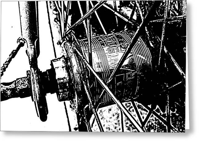 Stockton Greeting Cards - Spokes Greeting Card by Ellie Philpotts