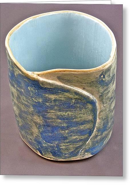 Pot Ceramics Greeting Cards - Spontaneous 07-022 Greeting Card by Mario Perron