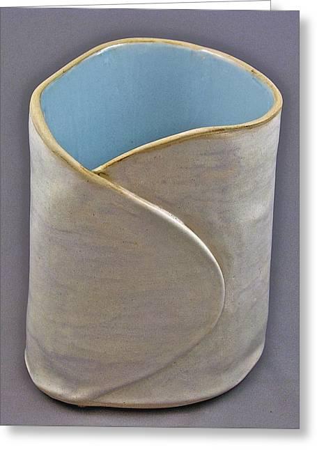 Pot Ceramics Greeting Cards - Spontaneous 07-023 Greeting Card by Mario Perron