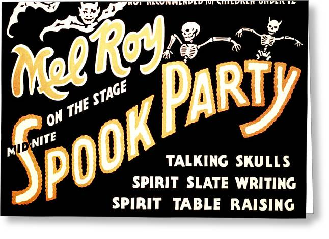 Magic Show Greeting Cards - Spook Party 2 Greeting Card by The  Vault - Jennifer Rondinelli Reilly
