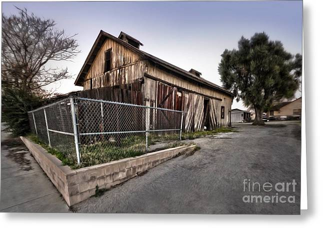 Spooky Chino Barn Greeting Card by Gregory Dyer