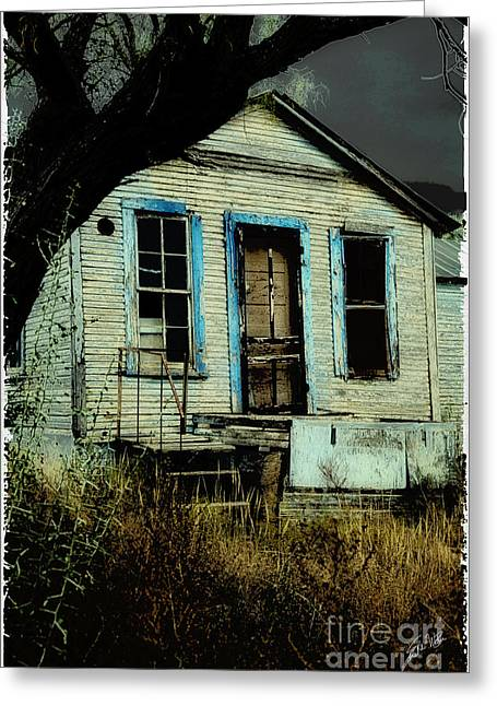 Old House Photographs Digital Art Greeting Cards - Spooky House Greeting Card by Erika Weber