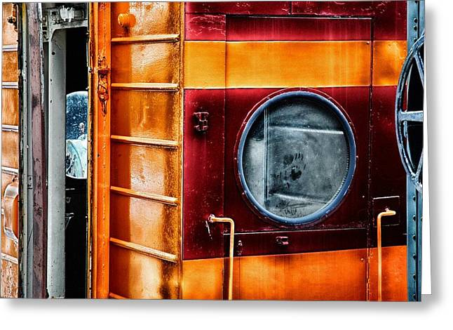 Historic Vehicle Mixed Media Greeting Cards - Spooky Old Train Greeting Card by Todd and candice Dailey
