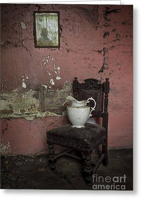 Empty Chairs Greeting Cards - Spooky Room Greeting Card by Svetlana Sewell