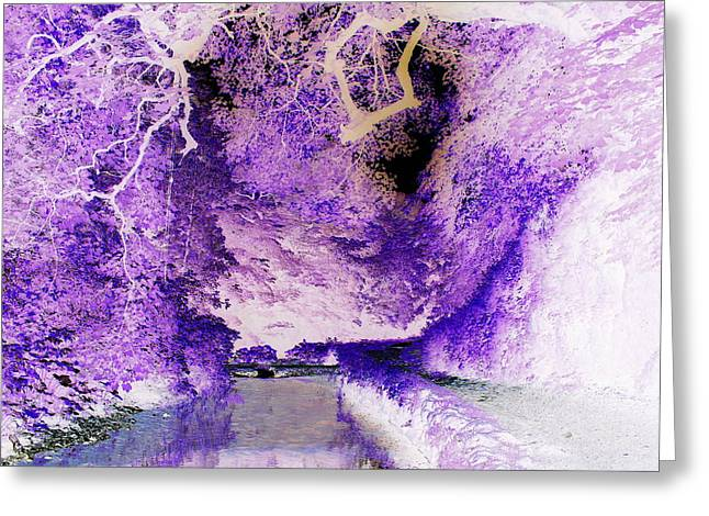 Overhang Greeting Cards - Spooky tunnel of trees Greeting Card by Geoff Ford