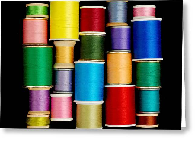 Mend Greeting Cards - Spools of Thread Greeting Card by Jim Hughes