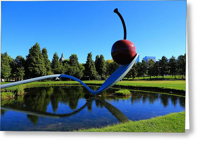 Oldenburg Greeting Cards - Spoonbridge and Cherry 3 Greeting Card by Rachel Cohen