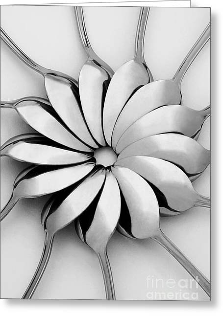 Shapes Digital Greeting Cards - Spoons I Greeting Card by Natalie Kinnear