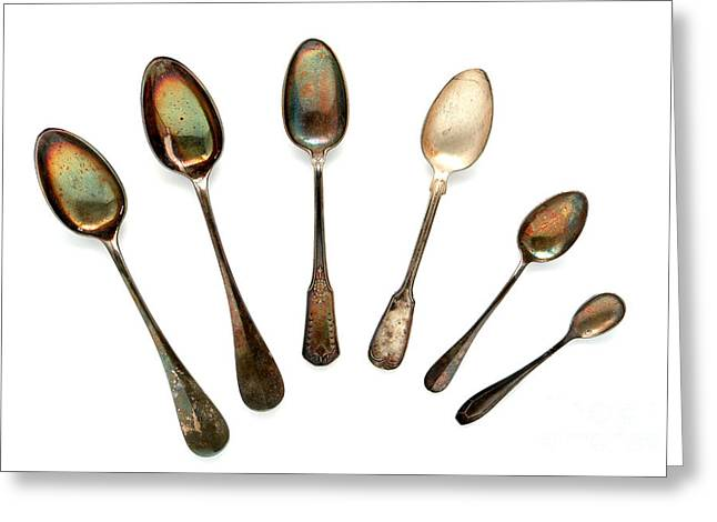 Utensils Greeting Cards - Spoons Greeting Card by Olivier Le Queinec