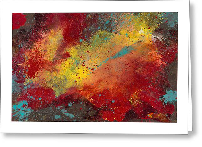 Beige Abstract Greeting Cards - Sporadic Corruption 2 Greeting Card by Craig Tinder