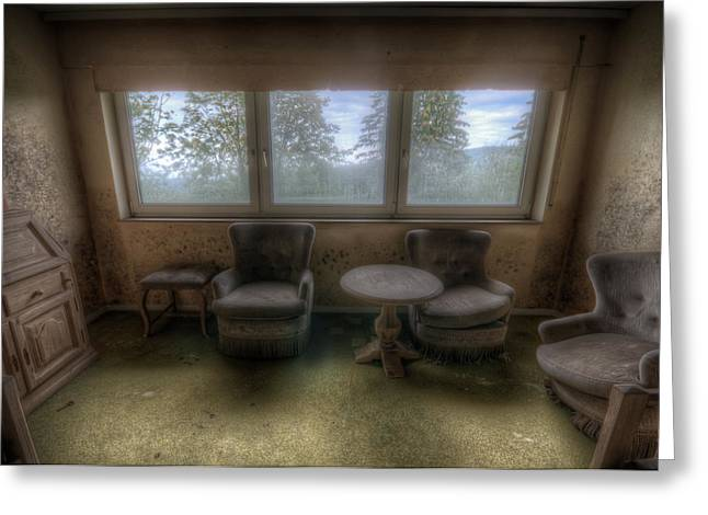 Empty Chairs Digital Art Greeting Cards - Spore room Greeting Card by Nathan Wright