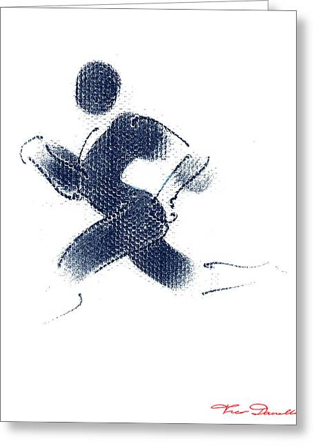 Jogging Greeting Cards - Sport A 1 Greeting Card by Theo Danella
