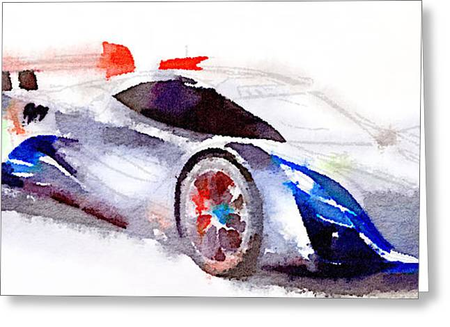 Stadium Design Digital Greeting Cards - Sport car 3 Greeting Card by Yury Malkov