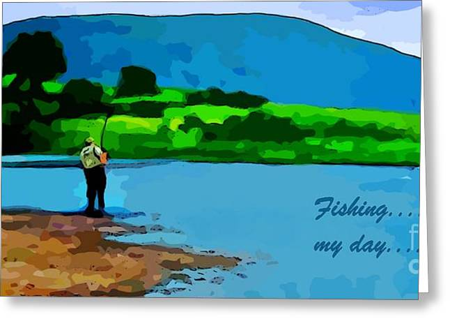 Trout Greeting Card Greeting Cards - Sport Fishing Poster Greeting Card by John Malone