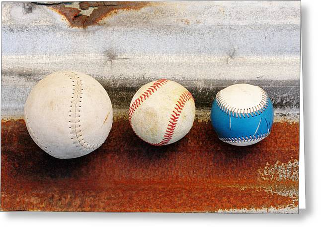 Play Ball Greeting Cards - Sports - Game Balls Greeting Card by Art Block Collections