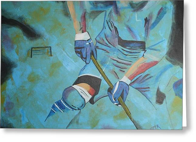 Sports Hockey-2 Greeting Card by Vitor Fernandes VIFER