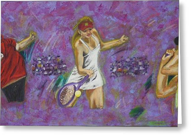 Tennis Pastels Greeting Cards - Sports Tennis Greeting Card by Vitor Fernandes VIFER