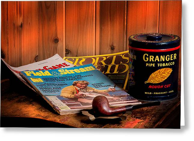 Smoker Greeting Cards - Sportsmans Table Greeting Card by Bill  Wakeley
