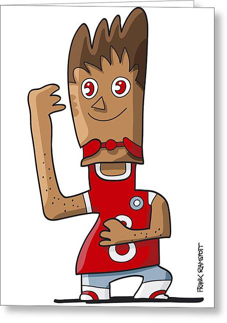 Doodle Greeting Cards - Sporty Teenager Doodle Character Greeting Card by Frank Ramspott