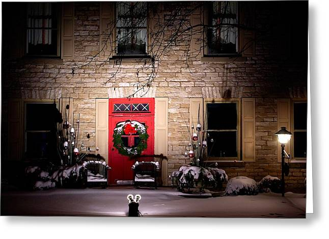 Spotlight On Christmas Greeting Card by Paul Wash