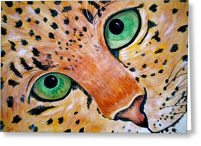 Bobcat Greeting Cards - Spotted Greeting Card by Debi Starr