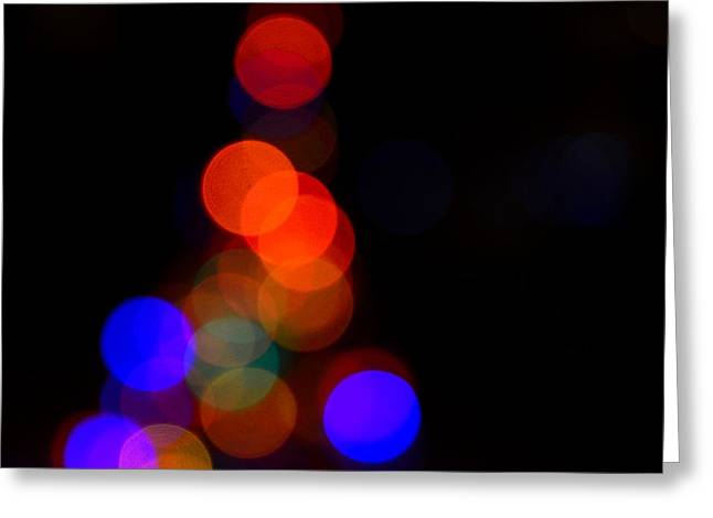 Christmas Art Greeting Cards - Spotted Tree Greeting Card by Jeffrey J Nagy