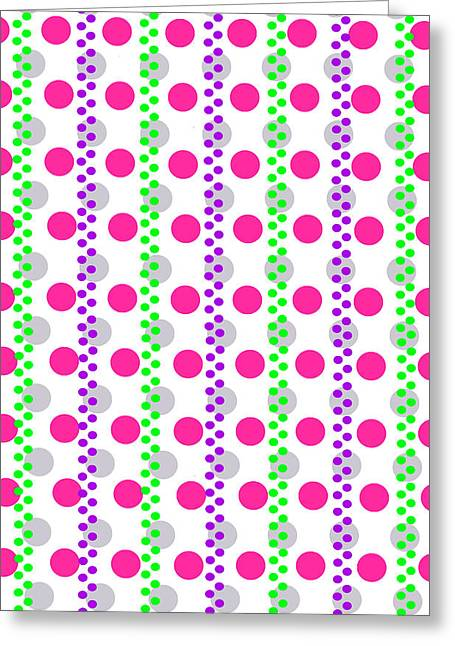 Bold Style Greeting Cards - Spotty Stripe Greeting Card by Louisa Hereford