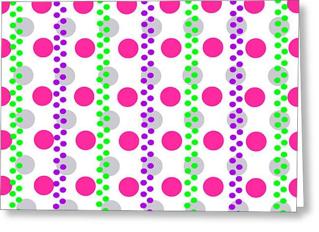 Spotty Stripe Greeting Card by Louisa Hereford