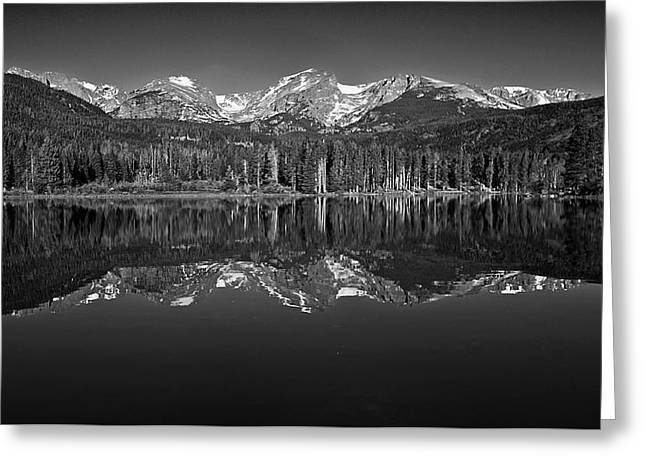 Mountain Reflection Lake Summit Mirror Greeting Cards - Sprague Lake Reflections Greeting Card by Brian Kerls