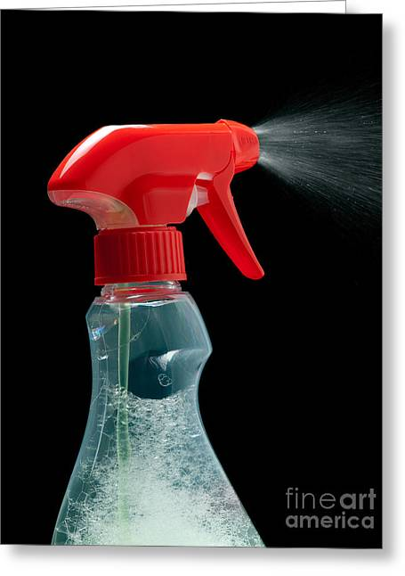 Housekeeping Greeting Cards - Spray bottle Greeting Card by Sinisa Botas