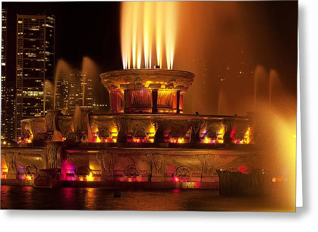 Fountain Photograph Greeting Cards - Spraying Water Greeting Card by Andrew Soundarajan