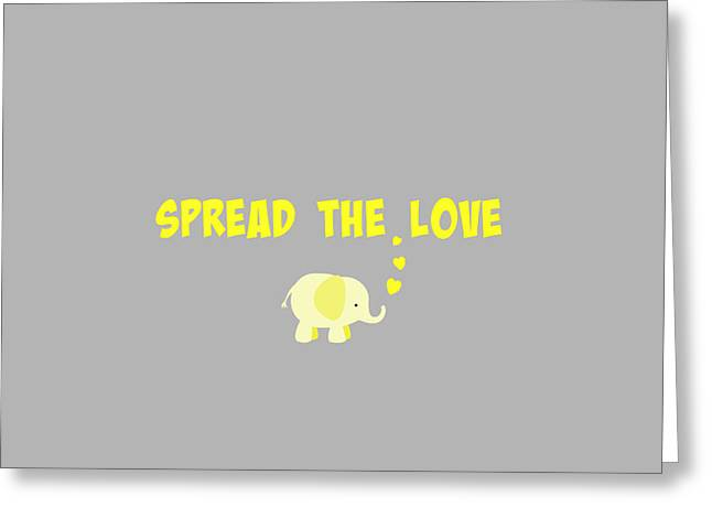 Spread The Love Greeting Card by Chastity Hoff