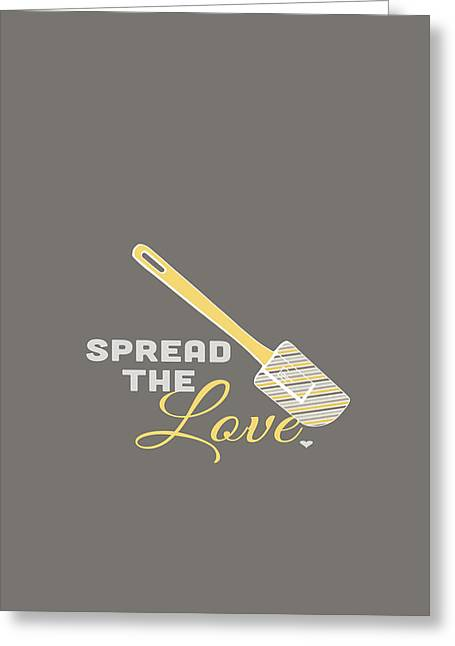 Frosting Digital Greeting Cards - Spread the Love Greeting Card by Nancy Ingersoll