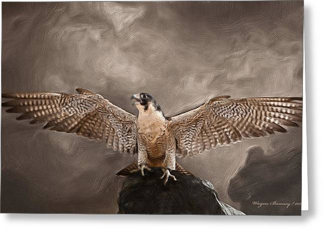 Spread Your Wings Greeting Card by Wayne Bonney