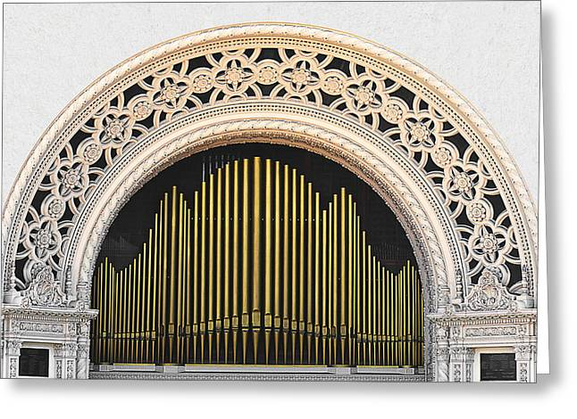 Pipes Greeting Cards - Spreckels Organ Balboa Park San Diego Greeting Card by Christine Till