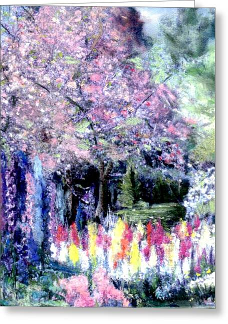 Library Pastels Greeting Cards - Spring @ Huntington Library Greeting Card by Sherri Trout