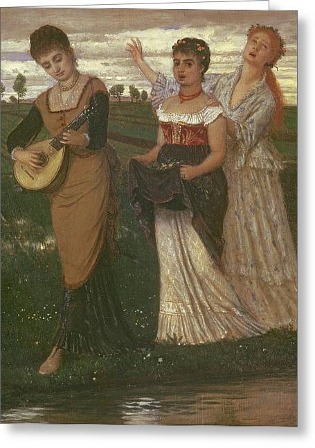 Mandolin Greeting Cards - Spring, 1876 Greeting Card by Arnold Bocklin