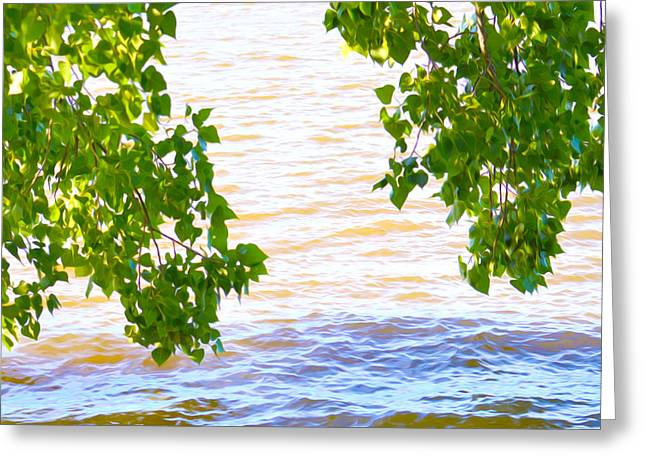 Spring Floods Paintings Greeting Cards - Spring 2 Greeting Card by Lanjee Chee