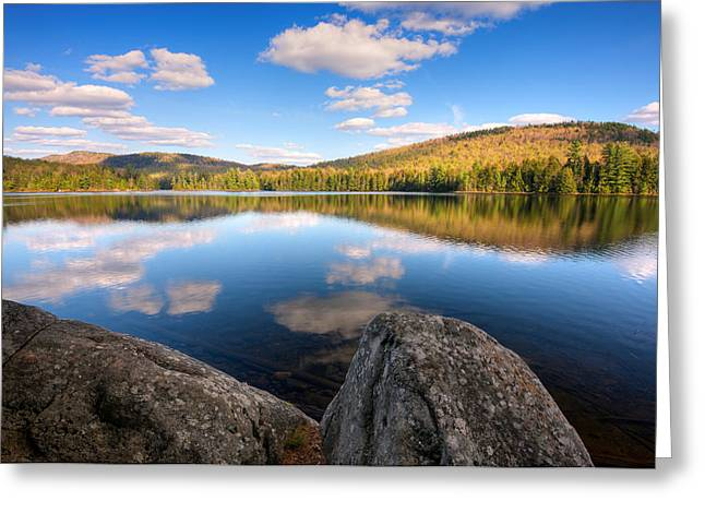 """adirondack Park"" Greeting Cards - Spring Afternoon On Upper Sargent Pond Greeting Card by Panoramic Images"