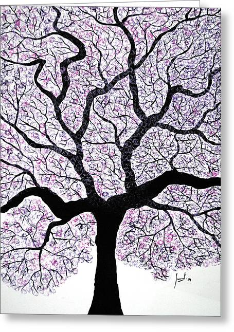 Violet Greeting Cards - Spring again Greeting Card by Sumit Mehndiratta