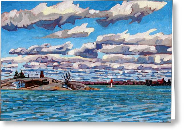 Oil Greeting Cards - Spring at Chimney Island Greeting Card by Phil Chadwick