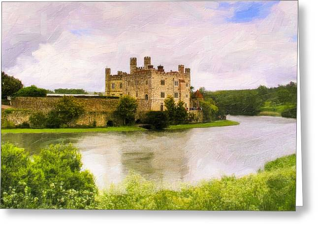 Spring at Leeds Castle Greeting Card by Mark Tisdale