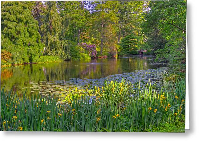 Auburn Ma Greeting Cards - Spring Morning at Mount Auburn Cemetery Greeting Card by Ken Stampfer