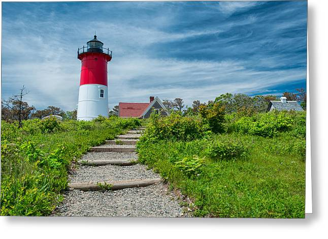 Nauset Beach Greeting Cards - Spring at Nauset Light Greeting Card by Michael Blanchette
